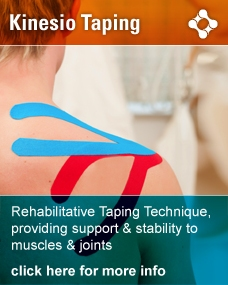 Rehabilitative Taping Technique, providing support & stability to muscles & joints